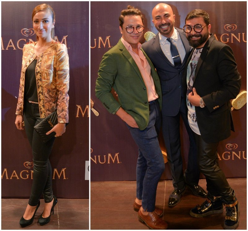 On the 'brown carpet': Anoushey Ashraf and Mohsin Ali, HSY and Ali Xeeshan — Publicity photos