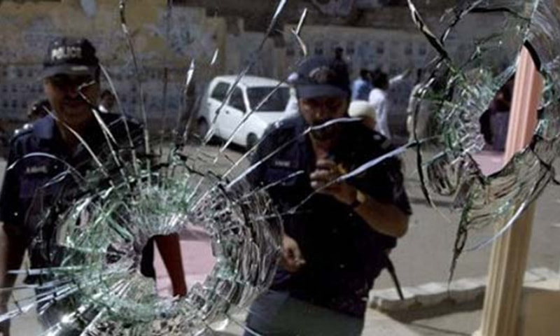 The traffic officials were performing their duty in Gulbai when armed riders attacked them, said Karachi-West SSP. —AP