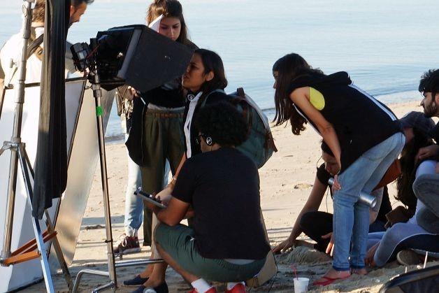 Mehreen during the shoot — Photo courtesy: Fairfield Citizen