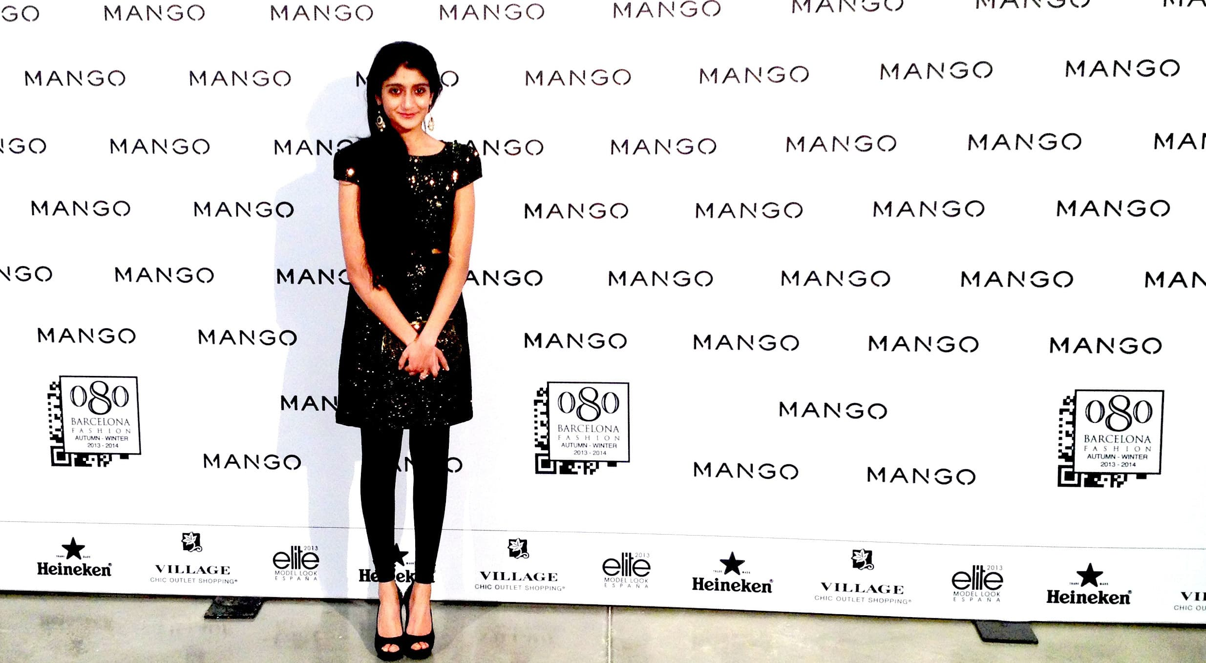 Laraib at the 080 Barcelona Fashion Week — Photograph courtesy Laraib Atta