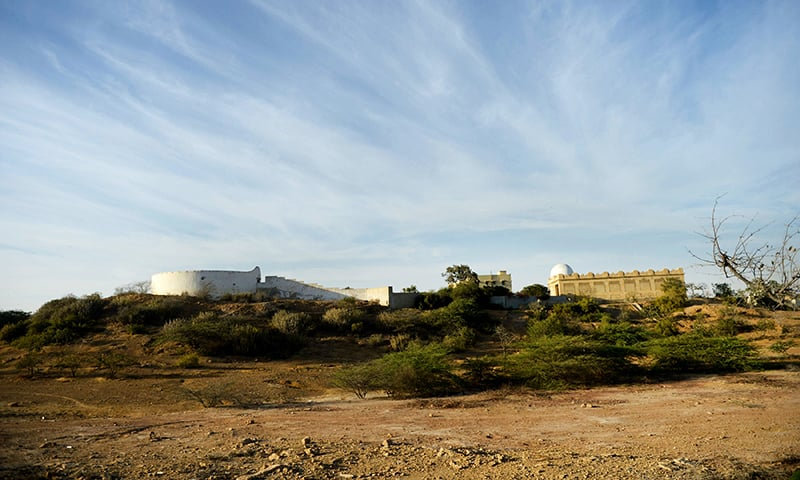 """A general view of the graveyard of Parsis also known as the """"Tower of silence"""" in Karachi. — AFP"""