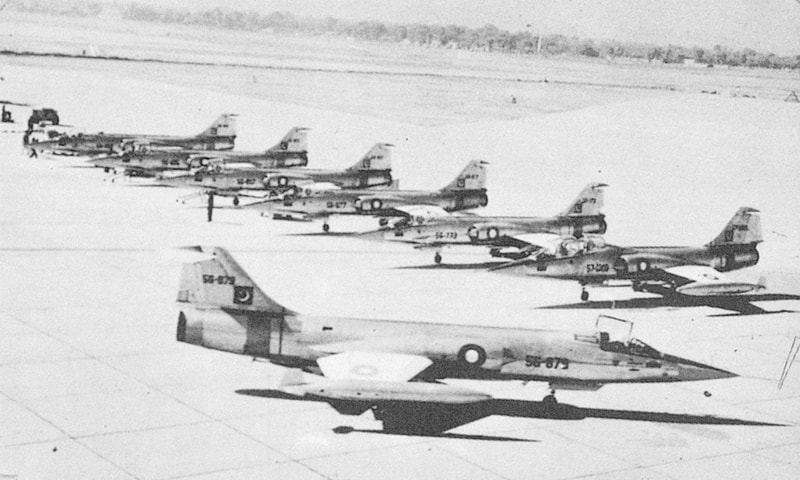 A PAF squadron ready to take on an adversary thrice its size. — Dawn File Photo