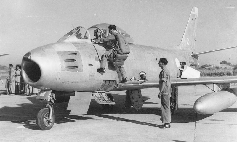 The F-86 Sabre served as the main workhorse for the Pakistan Air Force and virtually ruled the skies during the war. — Dawn File Photo