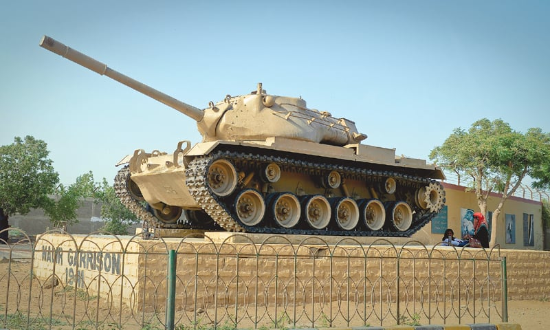The Army tank on display on M.M. Alam Road at Malir Cantt.—Fahim Siddiqi / White Star