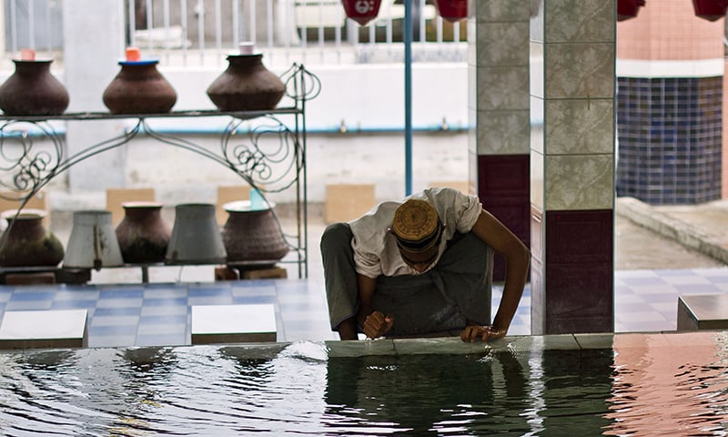 A Muslim man visiting the Joon Mosque. ─ AFP/File