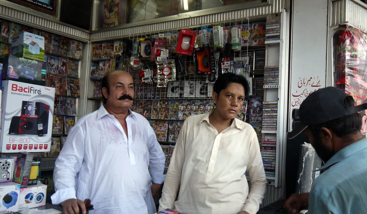 Awaiting customers at Paras Music Centre in Mirpurkhas | Fahad Naveed