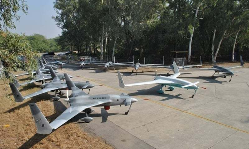 Pakistan Army had tested 'Burraq' armed with laser-guided 'Barq' missile for the first time on March 14, 2015.  — Photo courtesy ISPR