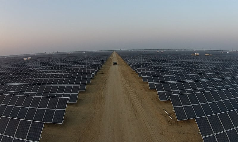 One of the main access roads inside QASP - Photo courtesy Quaid-e-Azam Solar Power (Pvt) Ltd.