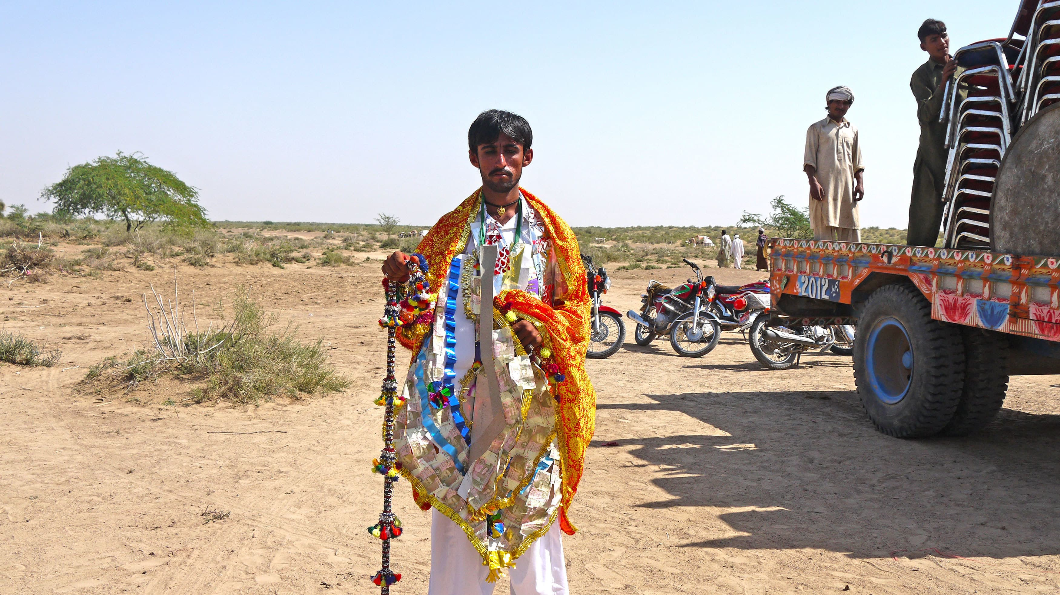 A groom at his wedding in Cholistan