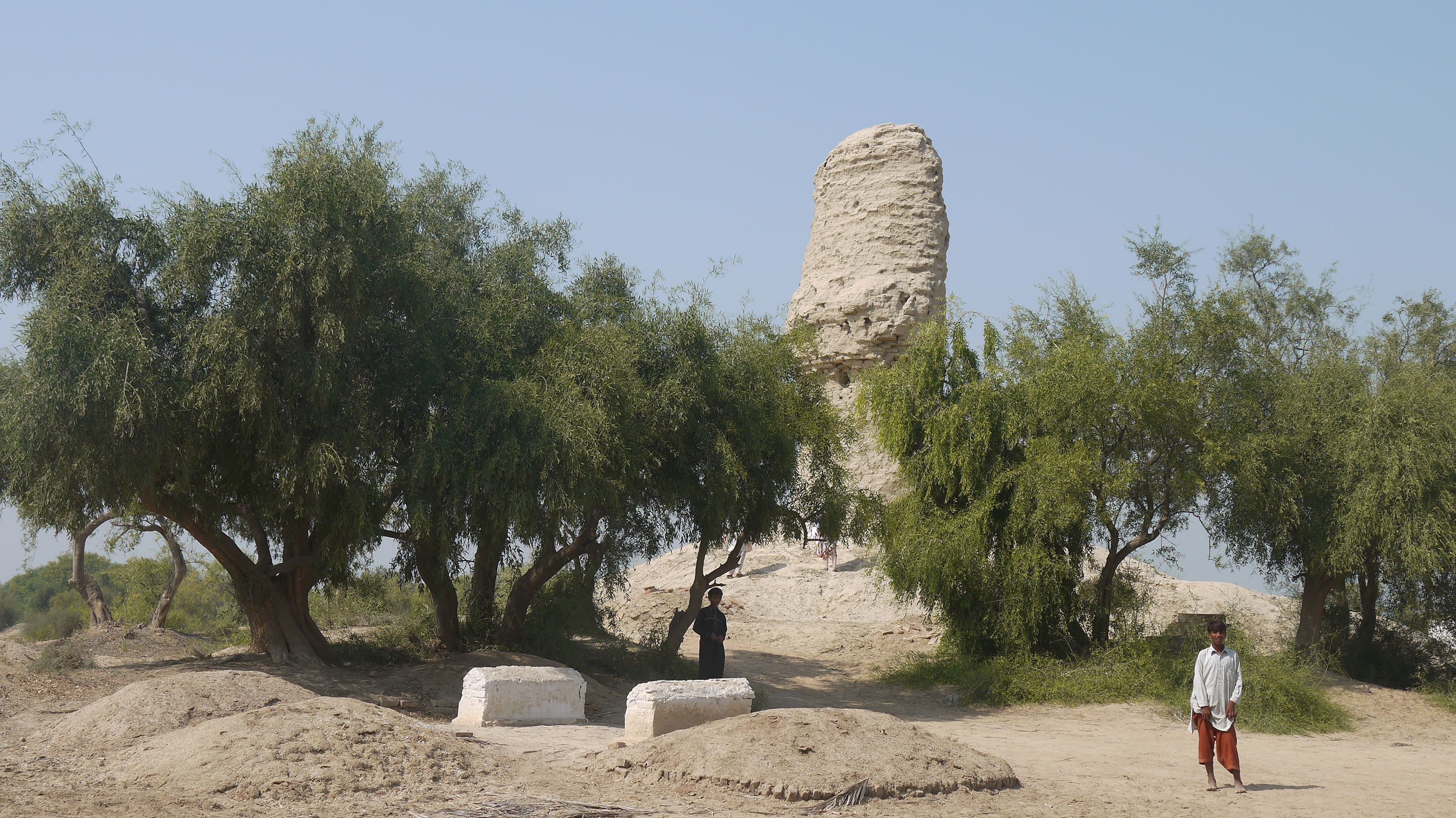 Infront of Sui Vehar, the remains of a Buddhist stupa
