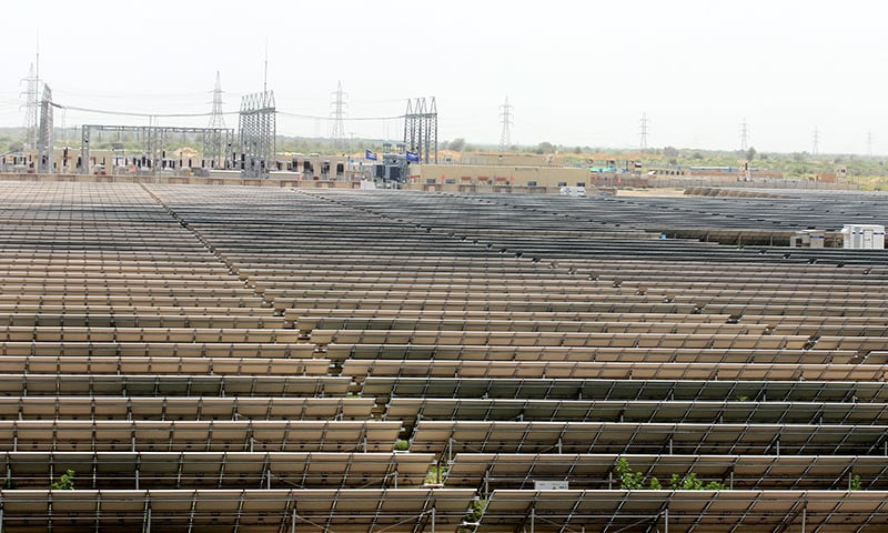 View of the infrastructure developed alogside the solar park to connect it to the national grid. -Photo courtesy Zofeen T. Ebrahim.