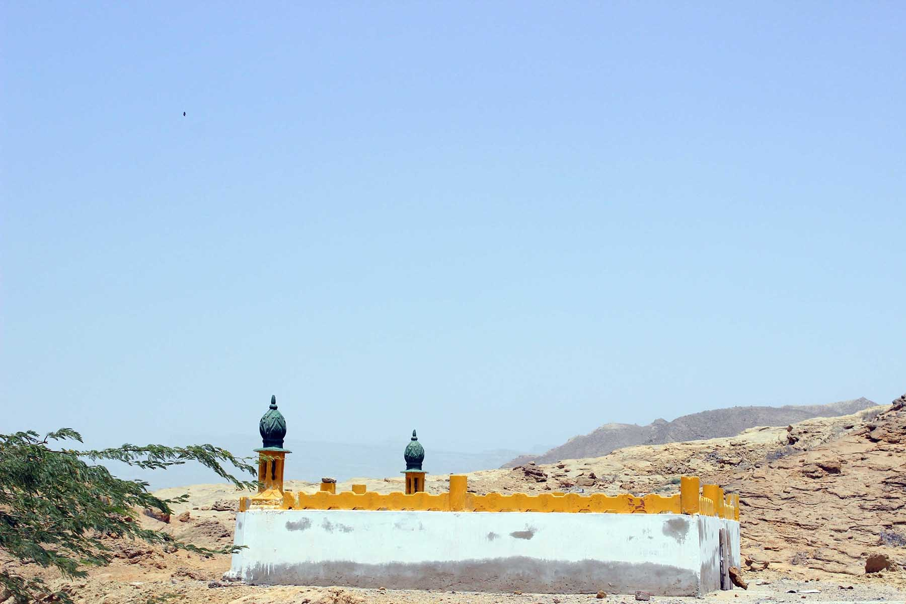 A very small mosque named Mohammad Bin Qasim, in his memory.