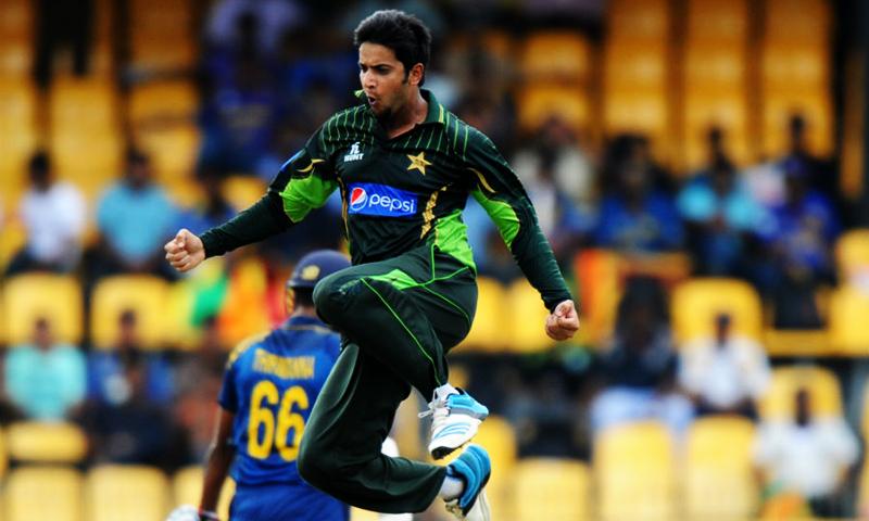 Imad Wasim celebrates. — AFP/File