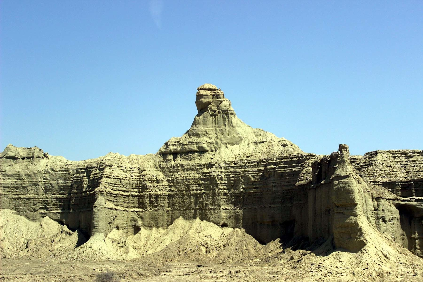 The sphinx-like structure.