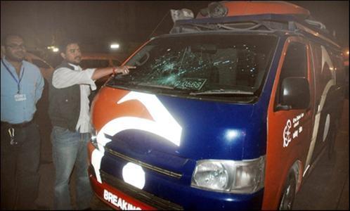 two dawnnews employees injured in karachi firing incident