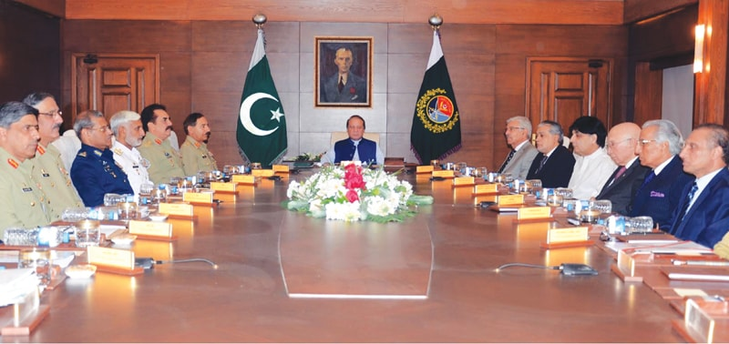 RAWALPINDI: Prime Minister Nawaz Sharif chairs the National Command Authority's meeting here on Wednesday.—INP