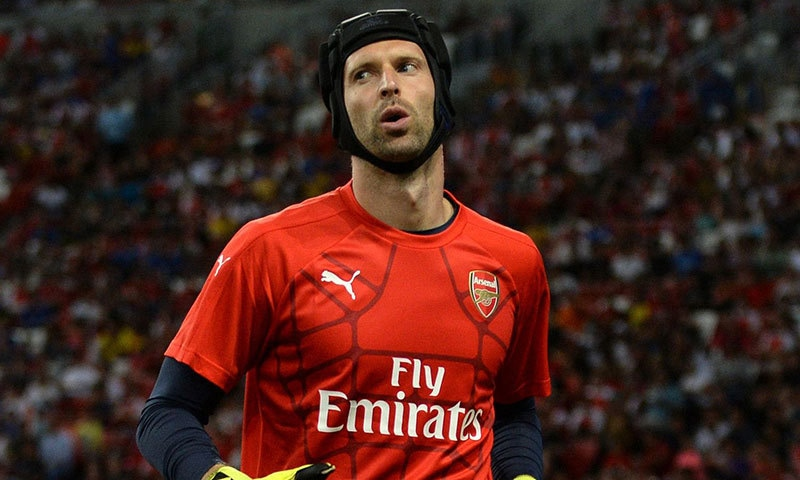 Petr Cech is the only signing Arsenal secured in the recently closed summer transfer window. — AFP/File