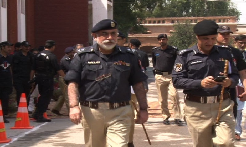 IGP Durrani with a subordinate- Photo by author