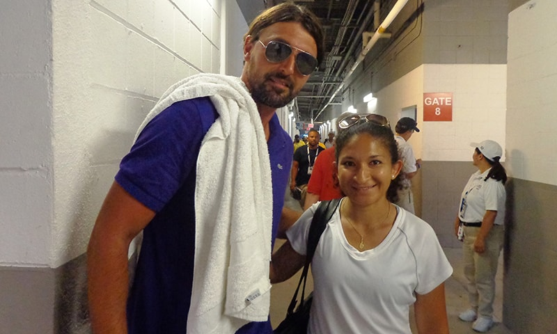With Goran Ivanisevic. —Photo by author