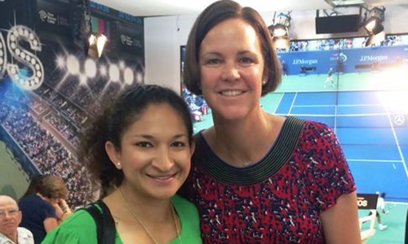 With Lindsay Davenport. —Photo by author