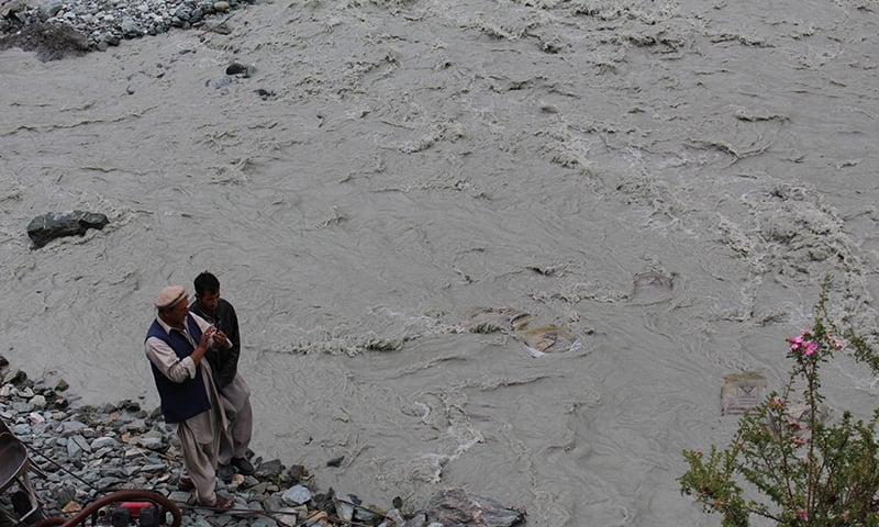 A flooded river in Bagrot Valley. - Photo courtesy: Syed Zahid Hussain