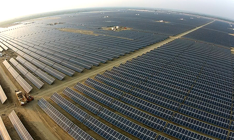 An aerial view of QASP. —Photo courtesy Quaid-e-Azam Solar Power (Pvt) Ltd.