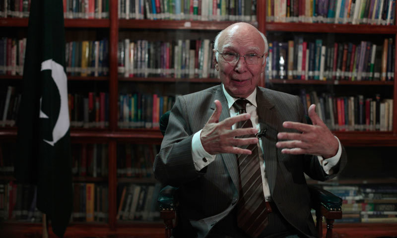 India's role in promoting terror in Pakistan no secret: Sartaj Aziz
