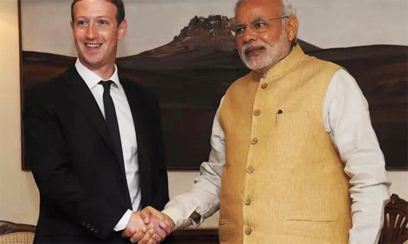 PM Modi tweeted about the visit, thanking Zuckerberg for his invitation. ─ Photo: Mark Zuckerberg official Facebook page.