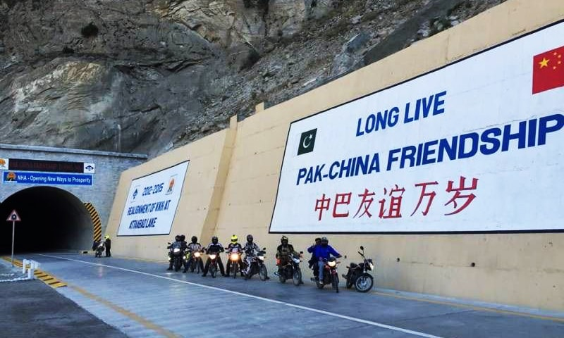 The five tunnels, spanning around 7kms, are part of a 24km portion of the Karakorum Highway which was damaged in 2010. —Photo Courtesy: Radio Pakistan