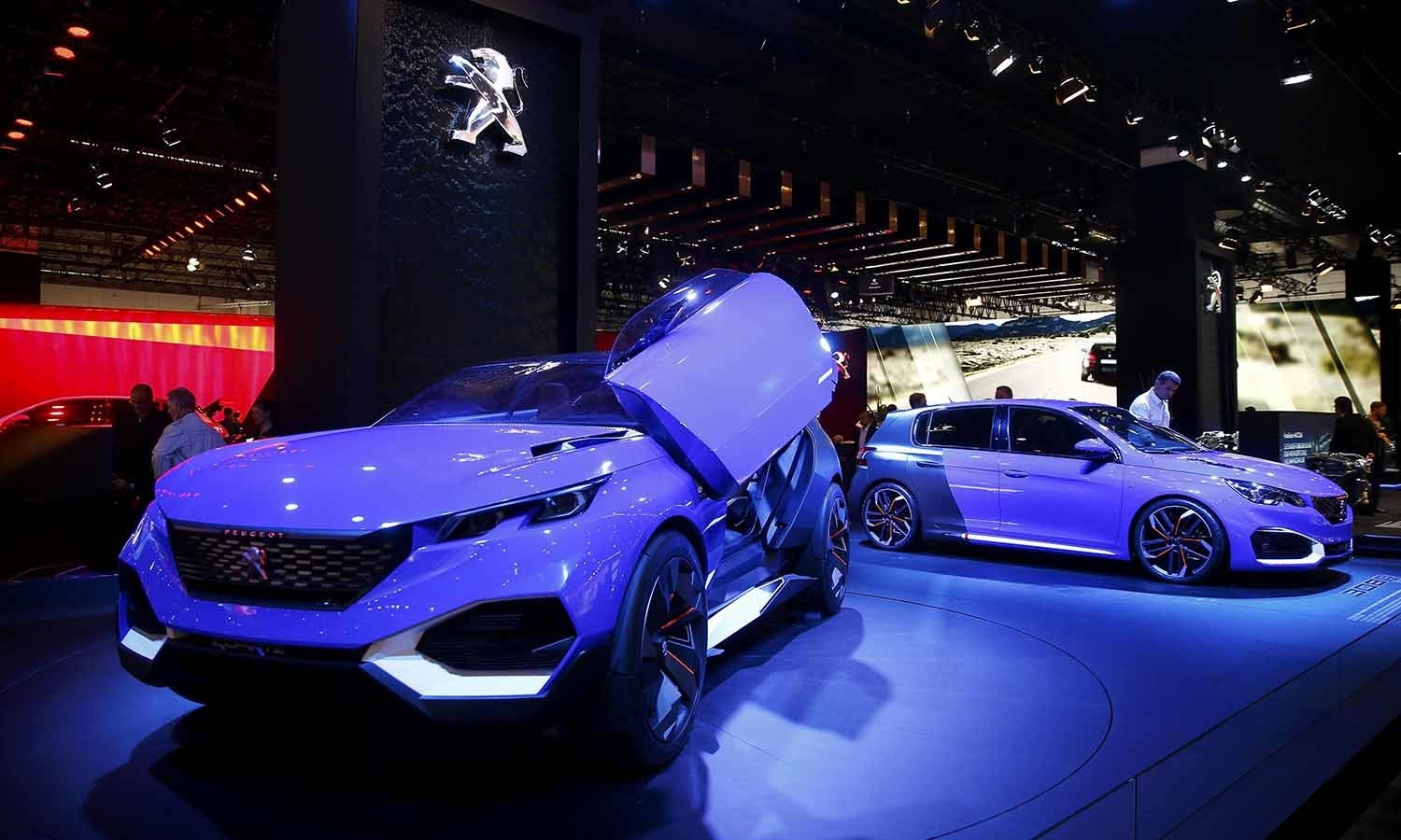 A Peugeot Quartz concept car is pictured during the media day. ─ Reuters