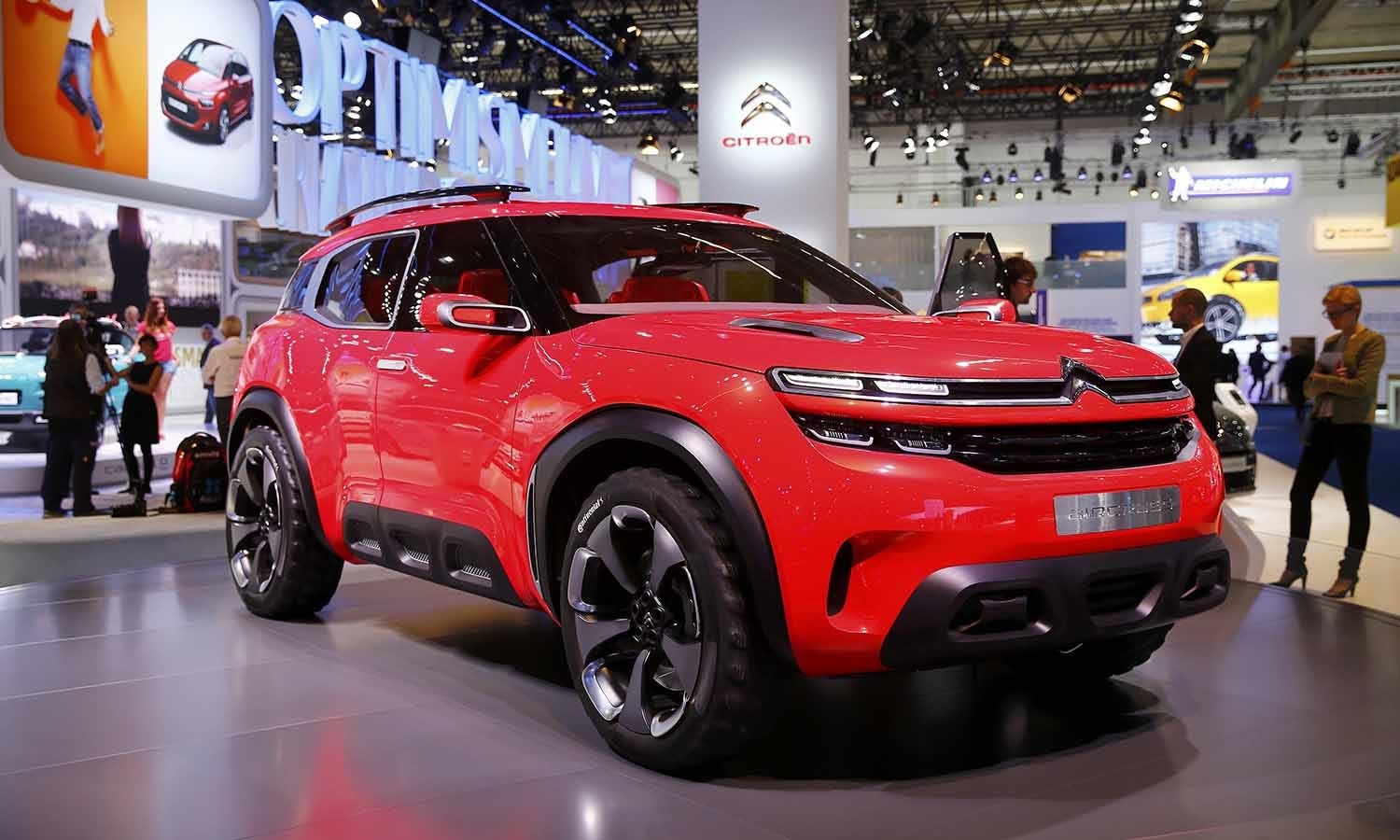 A Citroen Aircross concept car is pictured during the media day at the show. ─ Reuters