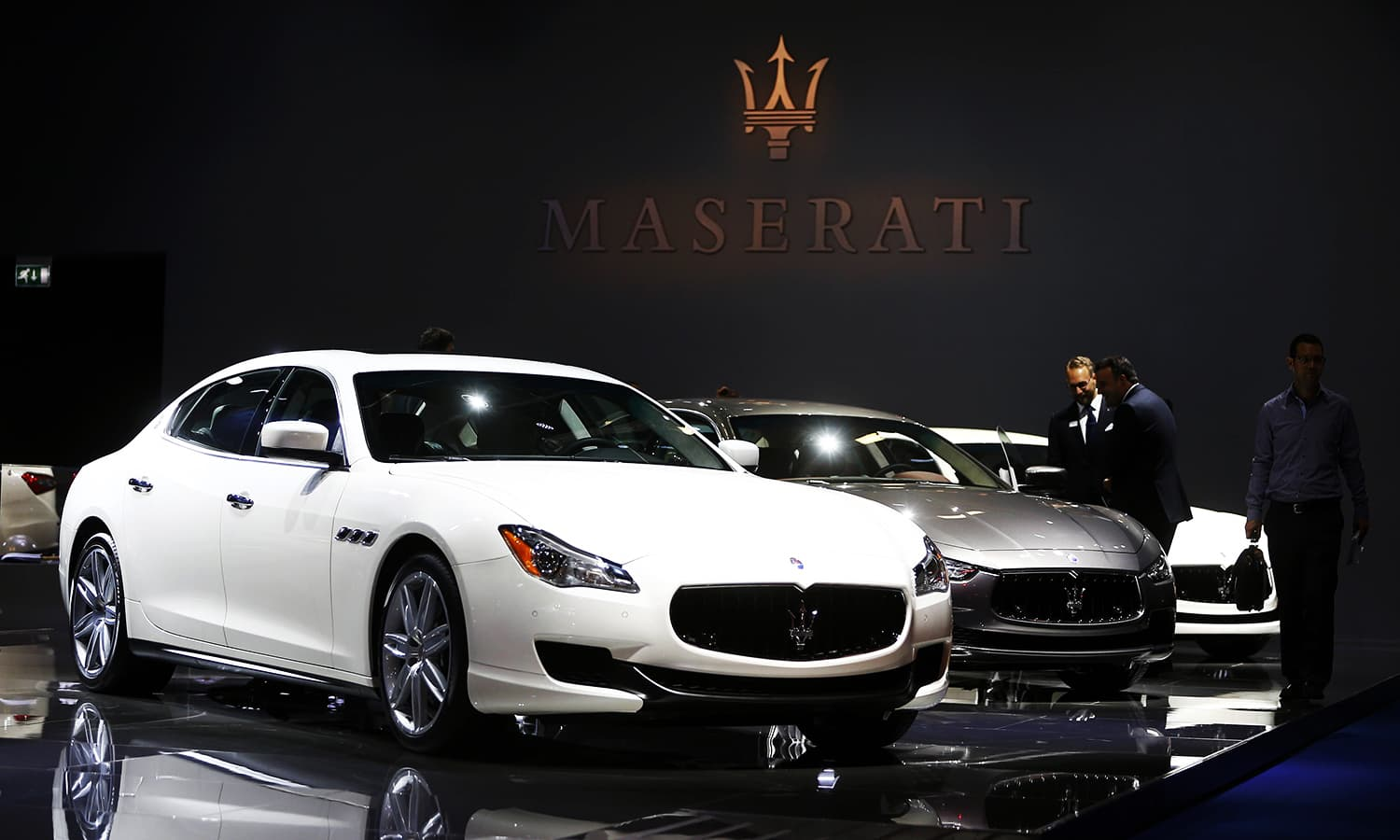 Maserati Quattroporte cars are pictured during the media day. ─ Reuters