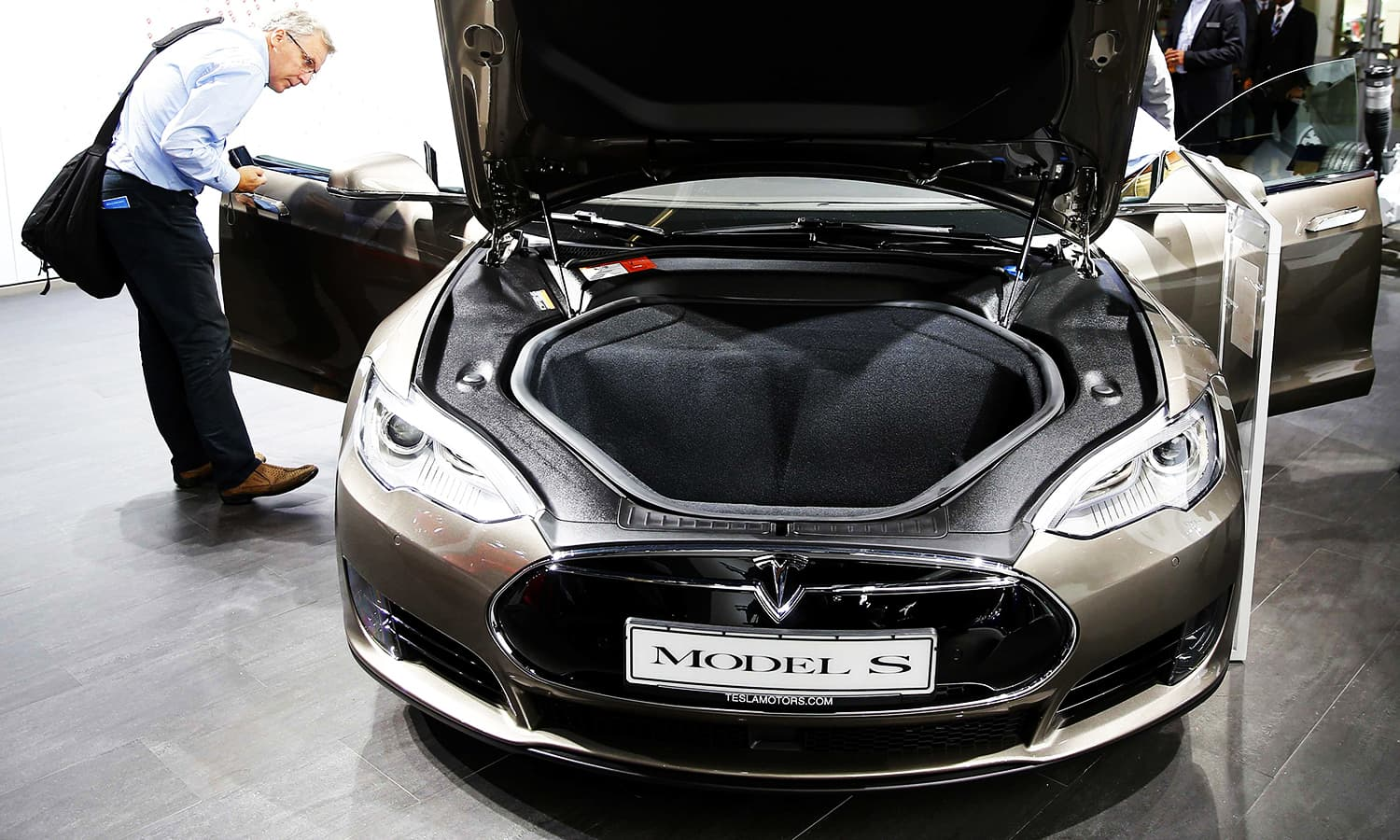 The Tesla Motors Model S is presented during the media day. ─ Reuters