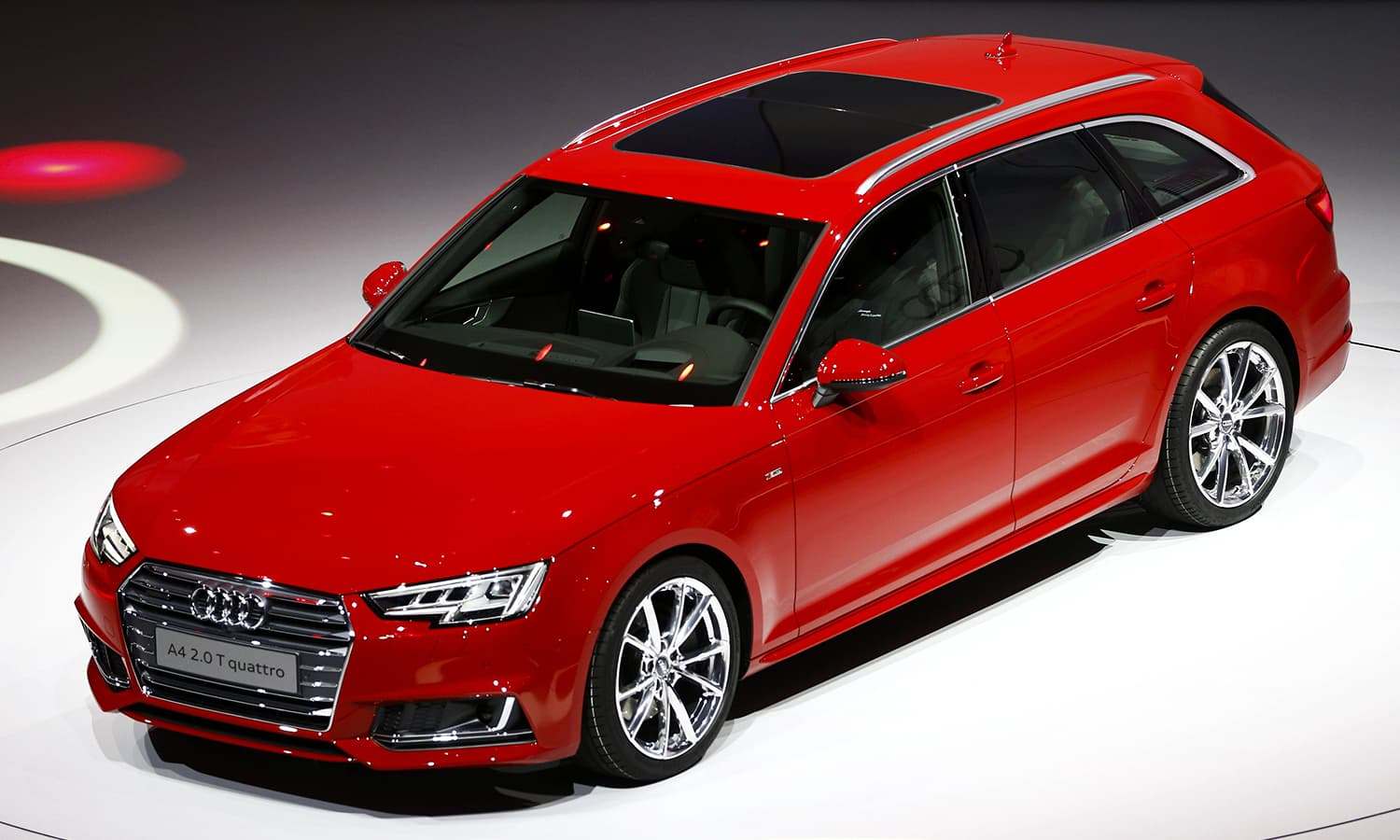 The new Audi A4 2.0 T quattro is presented during the Volkswagen group night. ─ Reuters