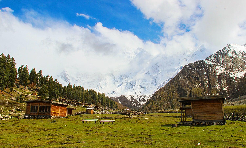 Bayal camp on the way to Nanga Parbat.