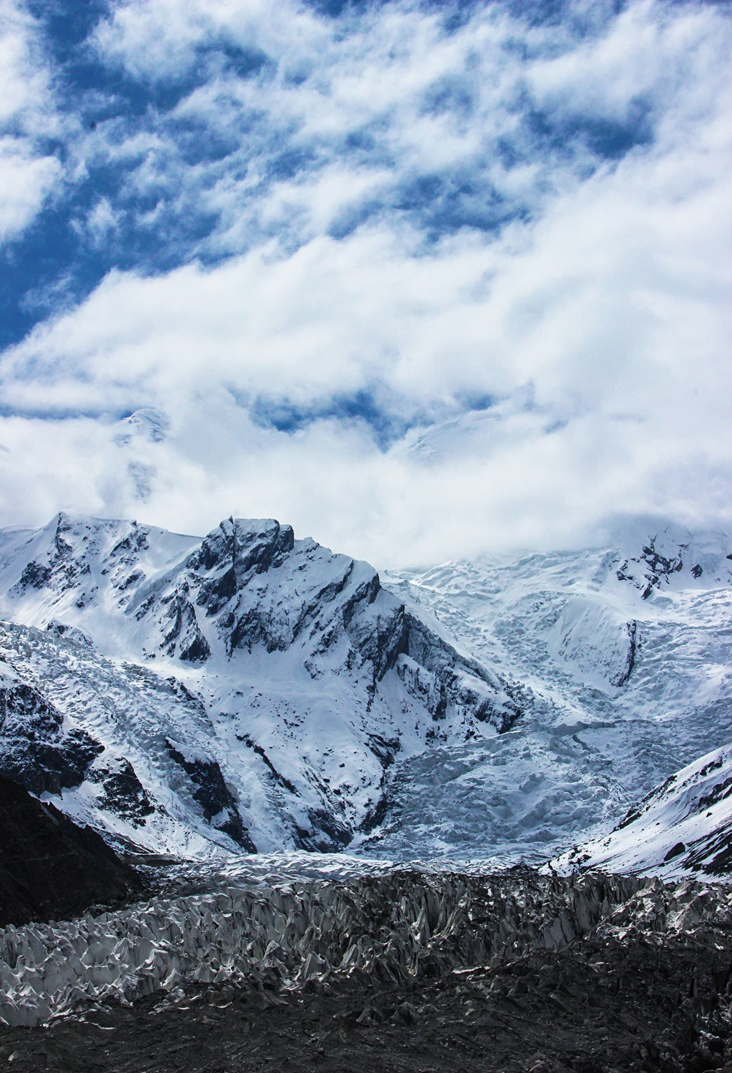 """View from """"View Point"""" trek towards base camp."""