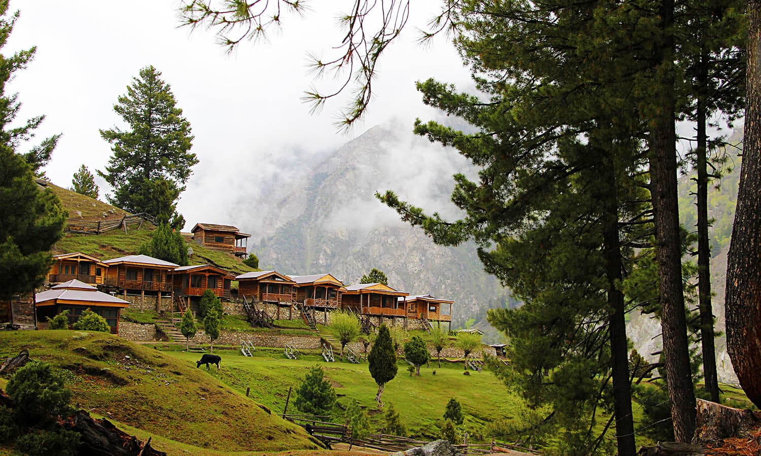 Another picturesque scene at Fairy Meadows.
