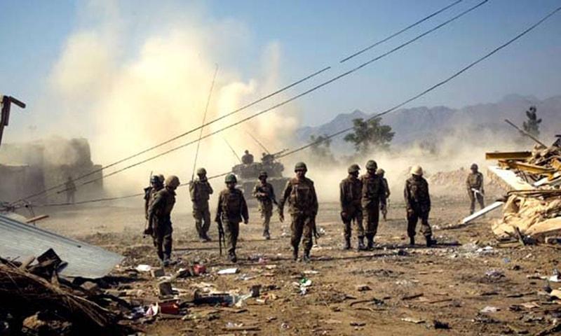 Retaliatory attack: Army destroys militants' shops in South Waziristan