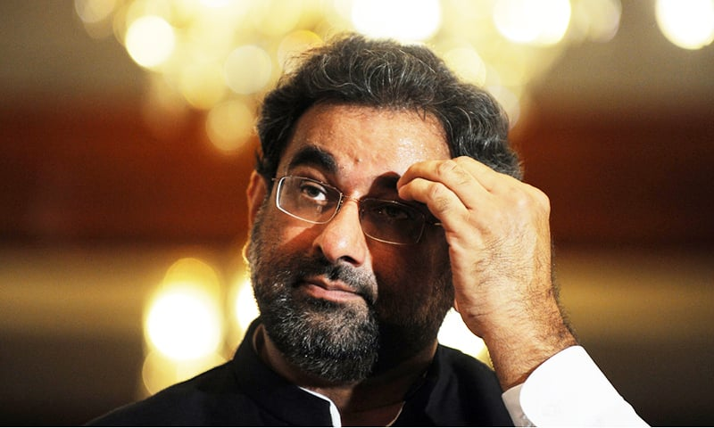 Shahid Khaqan Abbasi claimed to have received threats as well as offers of financial rewards from oil mafia.—AFP/File