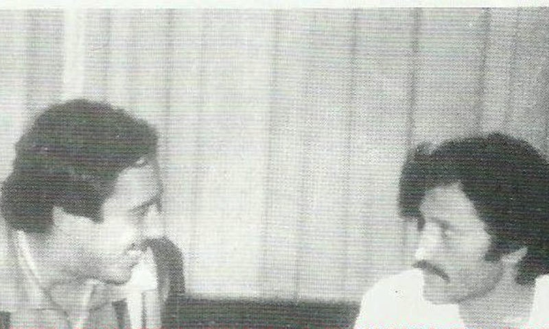 Murtaza with Raja Anwar in Kabul, 1980.