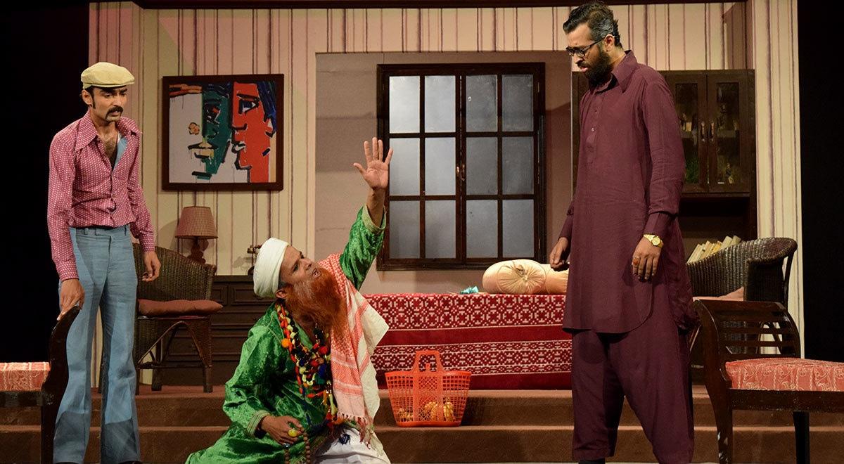 Danish looks flabbergasted as Azam falls for Baba's tactics. — Photo by Laila Raza