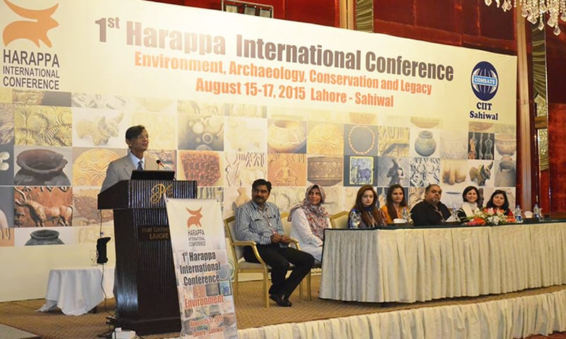 Presenting paper at the Harappa International Conference in Lahore.