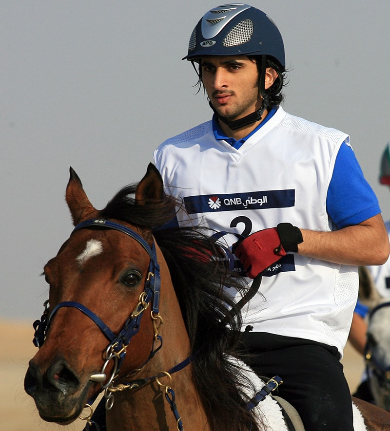 A file picture taken on December 14, 2006 shows Sheikh Rashid bin Mohammad Al-Maktoum, son of Sheikh Mohammad bin Rashid al-Maktoum, Prime Minister of the United Arab Emirates (UAE) and ruler of Dubai competing at the 15th Asian Games in Doha. —AFP