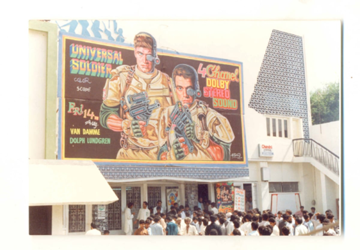 'Universal Soldier' (1992) screened at the cinema after its release. — Photo courtesy: The Citizens Archives of Pakistan. — Photo courtesy: The Citizens Archives of Pakistan