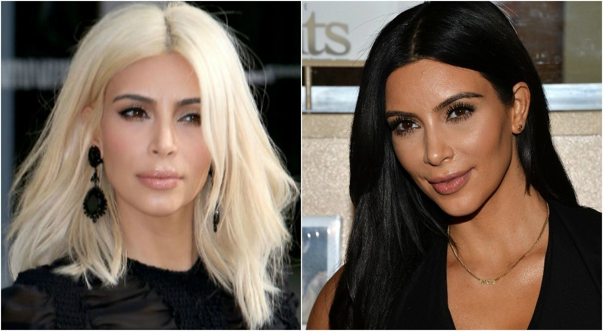 Kim is a big fan of changing up her look