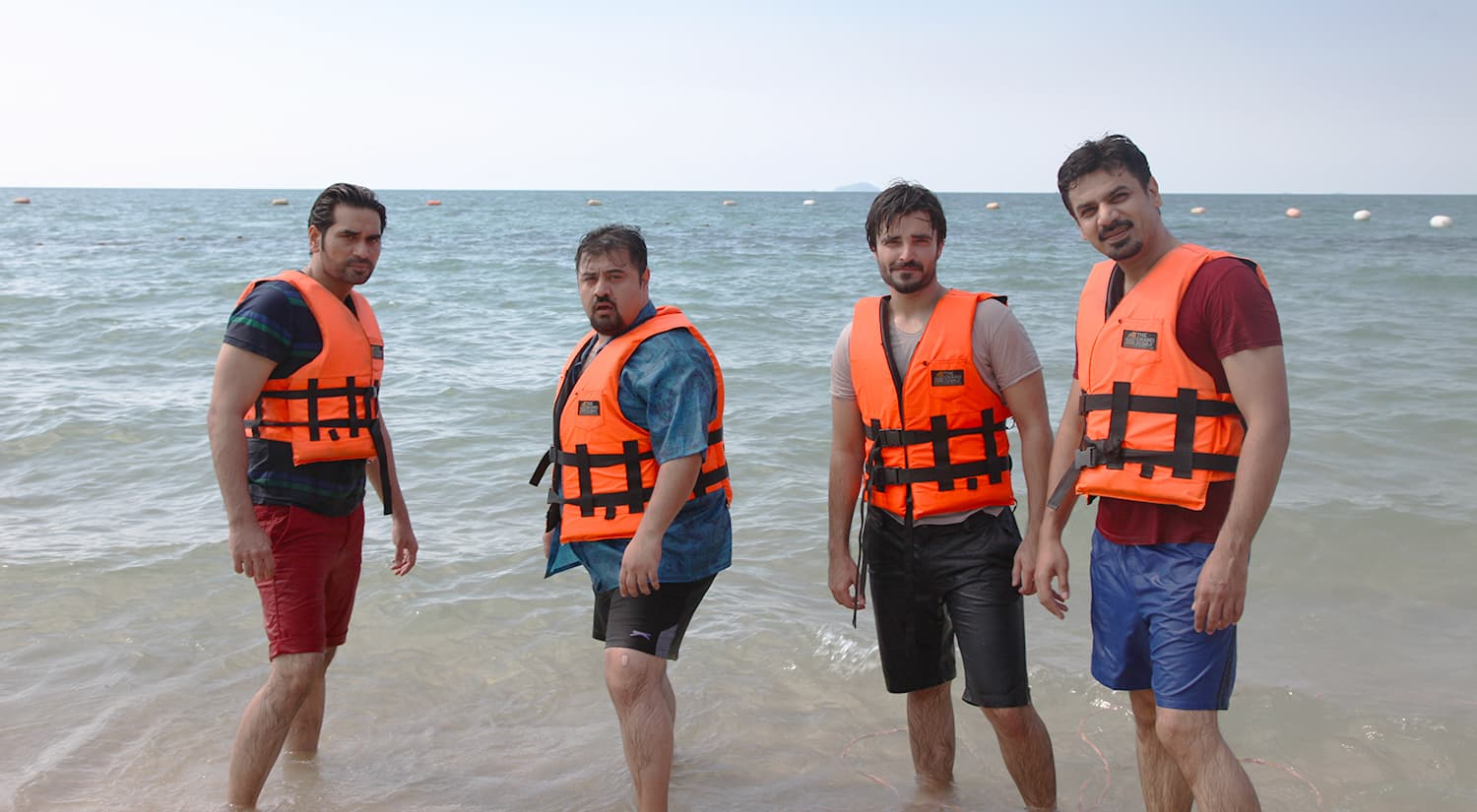Sherry (Humayun Saeed) with his boys — Publicity photo