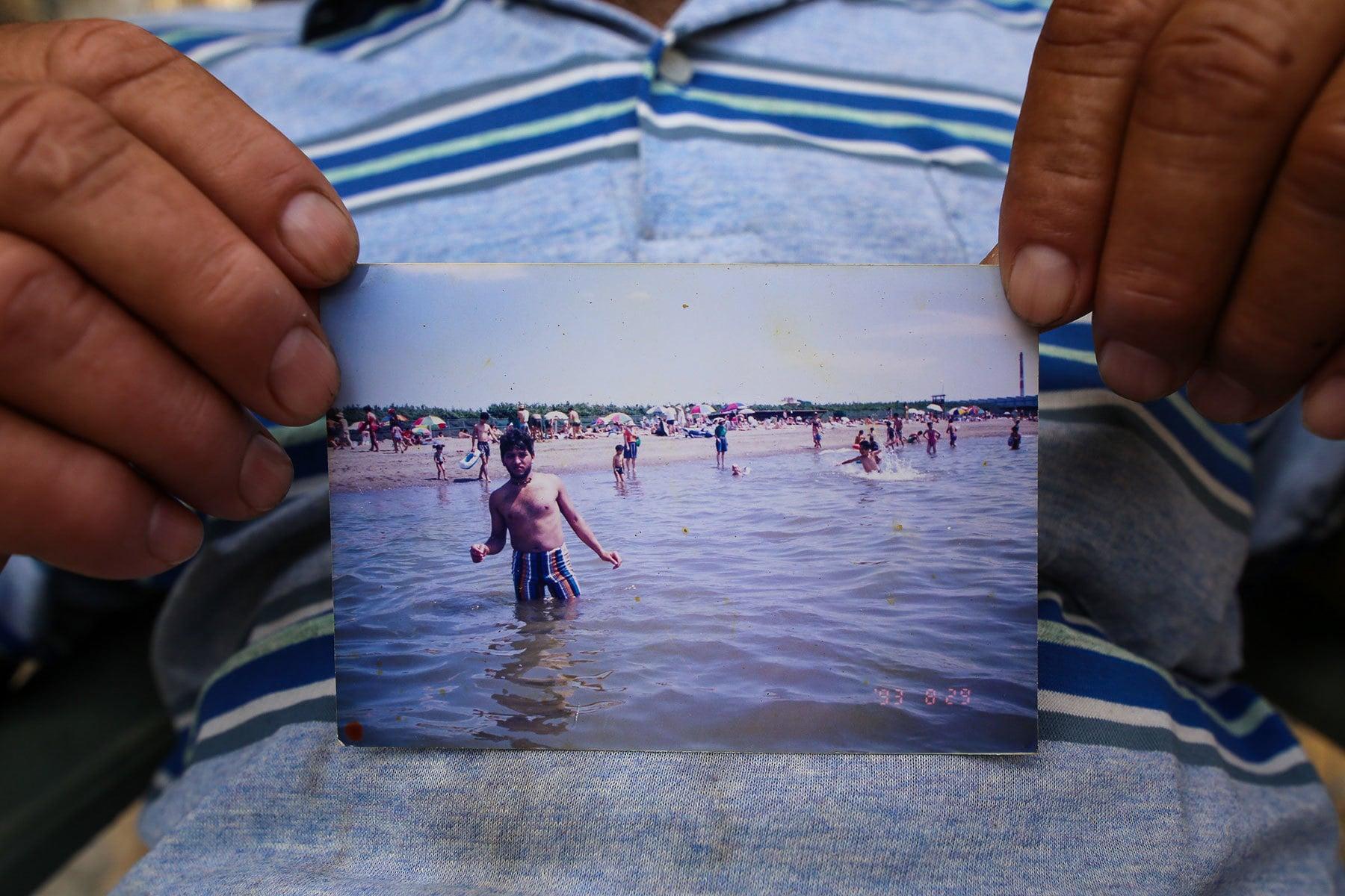 Miraj enjoys the summer at the Chibu beach in Tokyo,Japan.