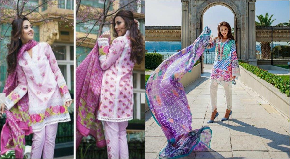 Ainy Jafri models for FTA lawn