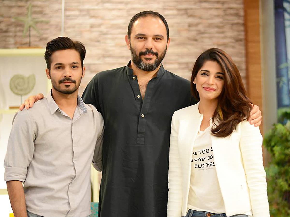 Soniya with Moor director Jami and co-star Ayaz Samoo — Publicity photo