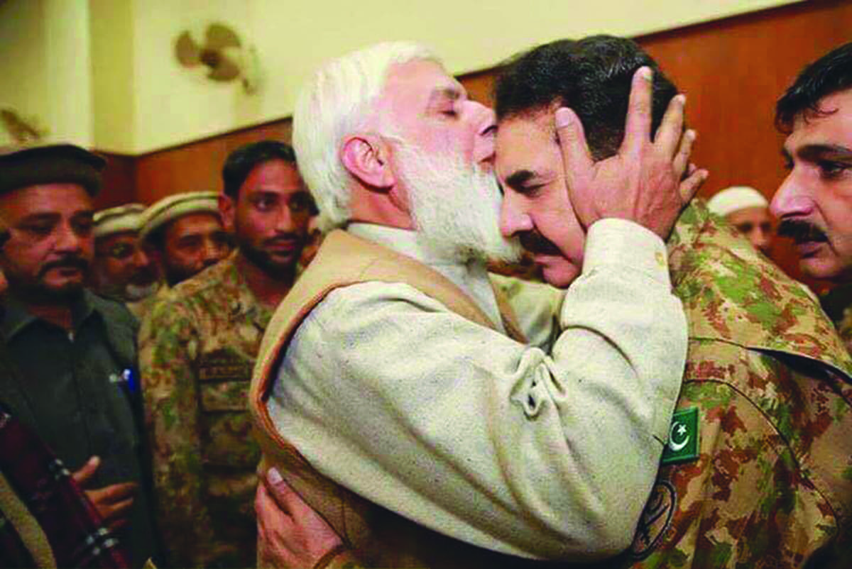 The family member of a student killed in Peshawar school attack with the COAS   ISPR